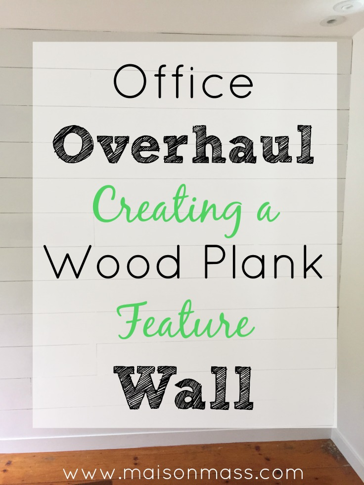 Office Overhaul, wood plank wall