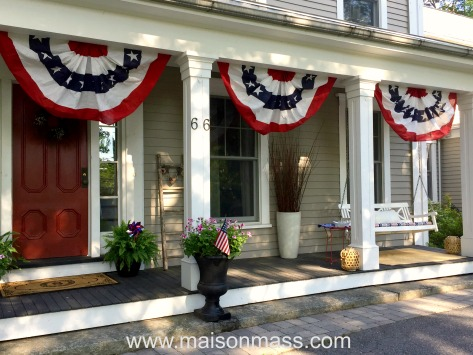 patriotic decor, independence day, bunting
