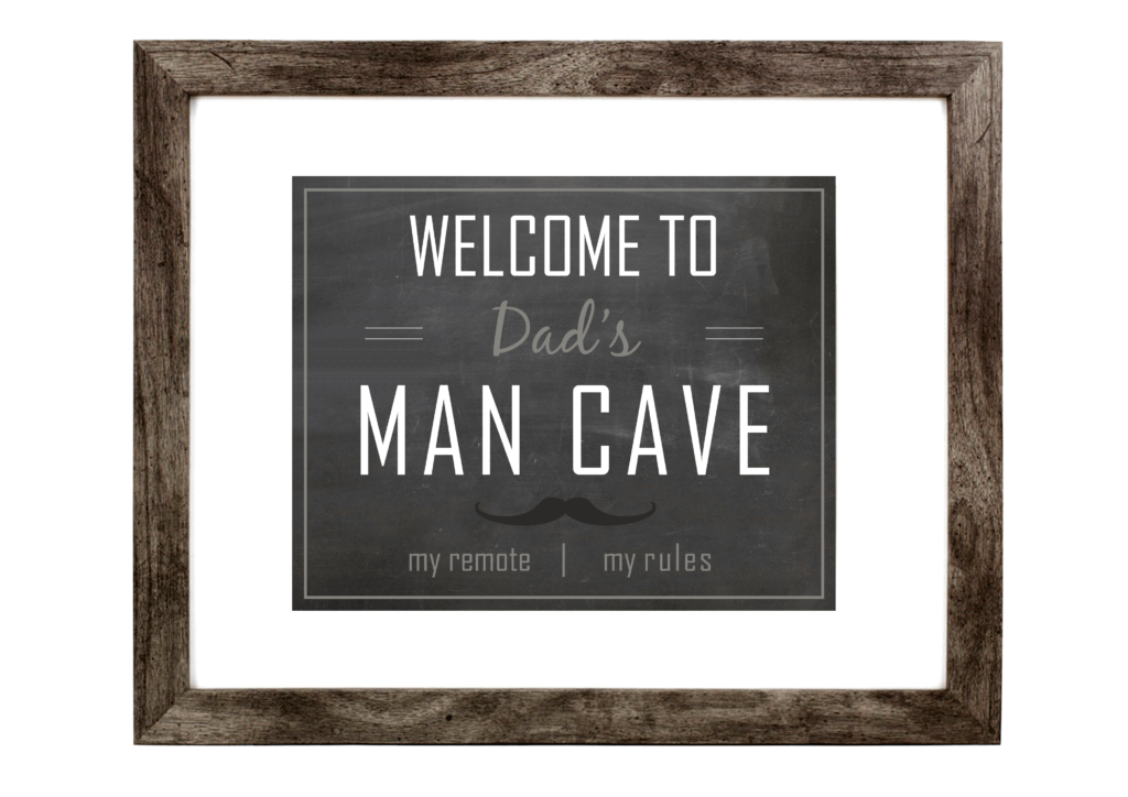 Man Cave Print, Man Cave Decor, Man Cave Wall Art, Father's Day
