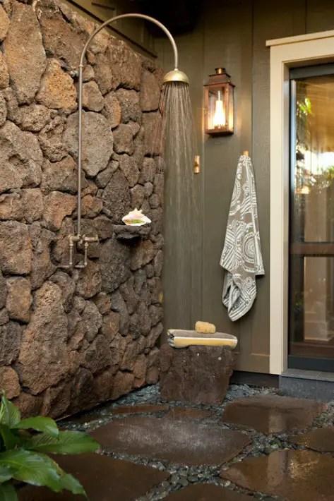 outdoor shower, en plein air, stone