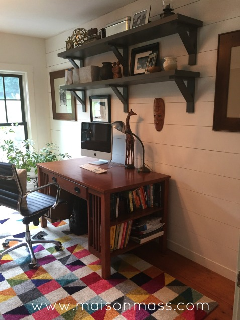 office overhaul, industrial shelves