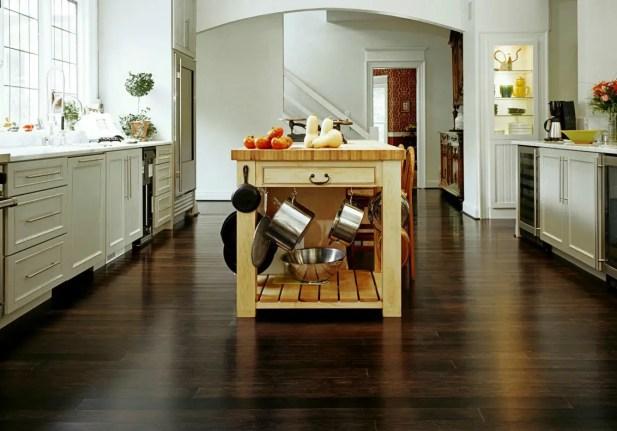 Kitchen Flooring; Bamboo