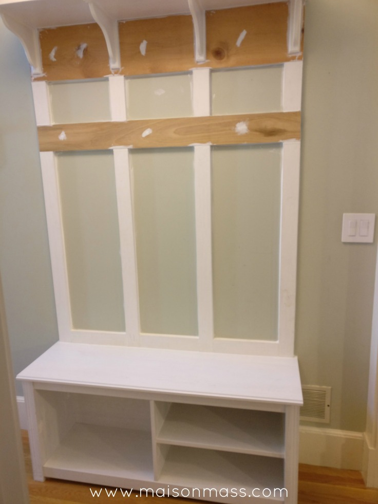 mudroom ikea hack