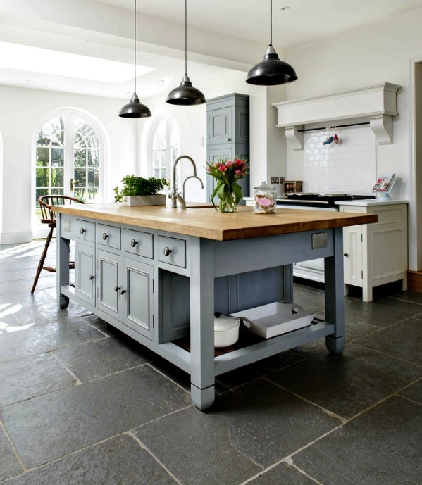 Kitchen flooring; slate file