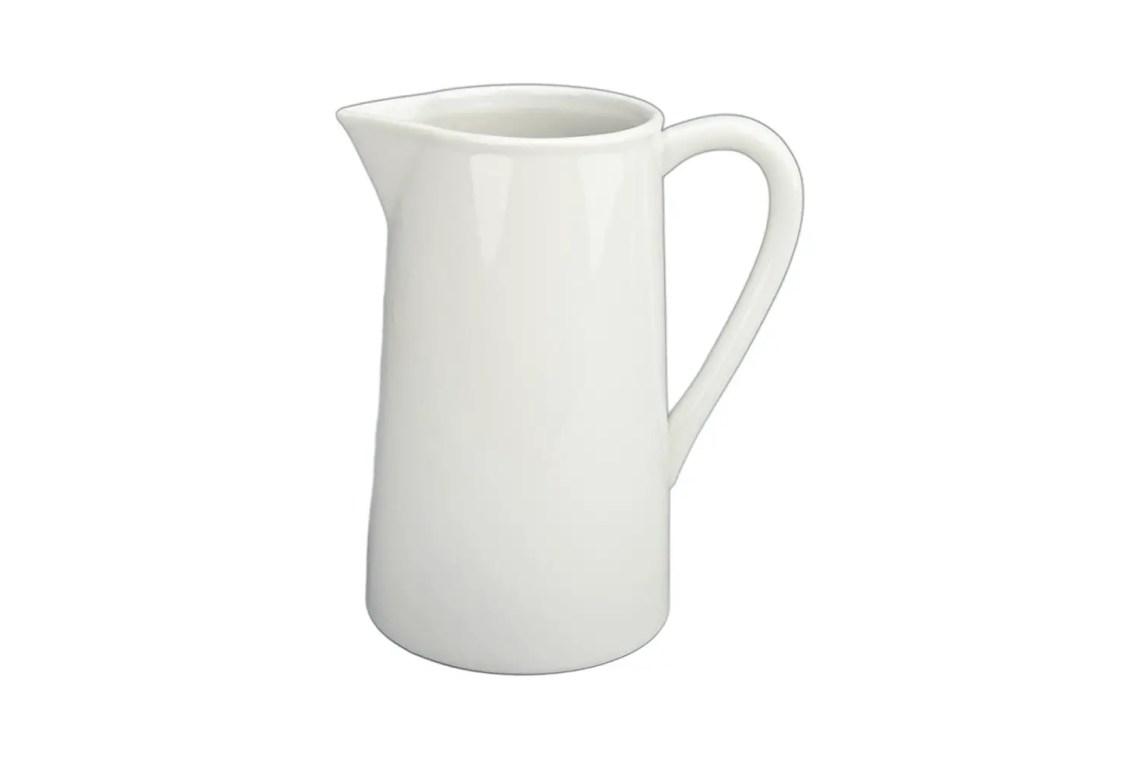 Farmhouse white pitcher