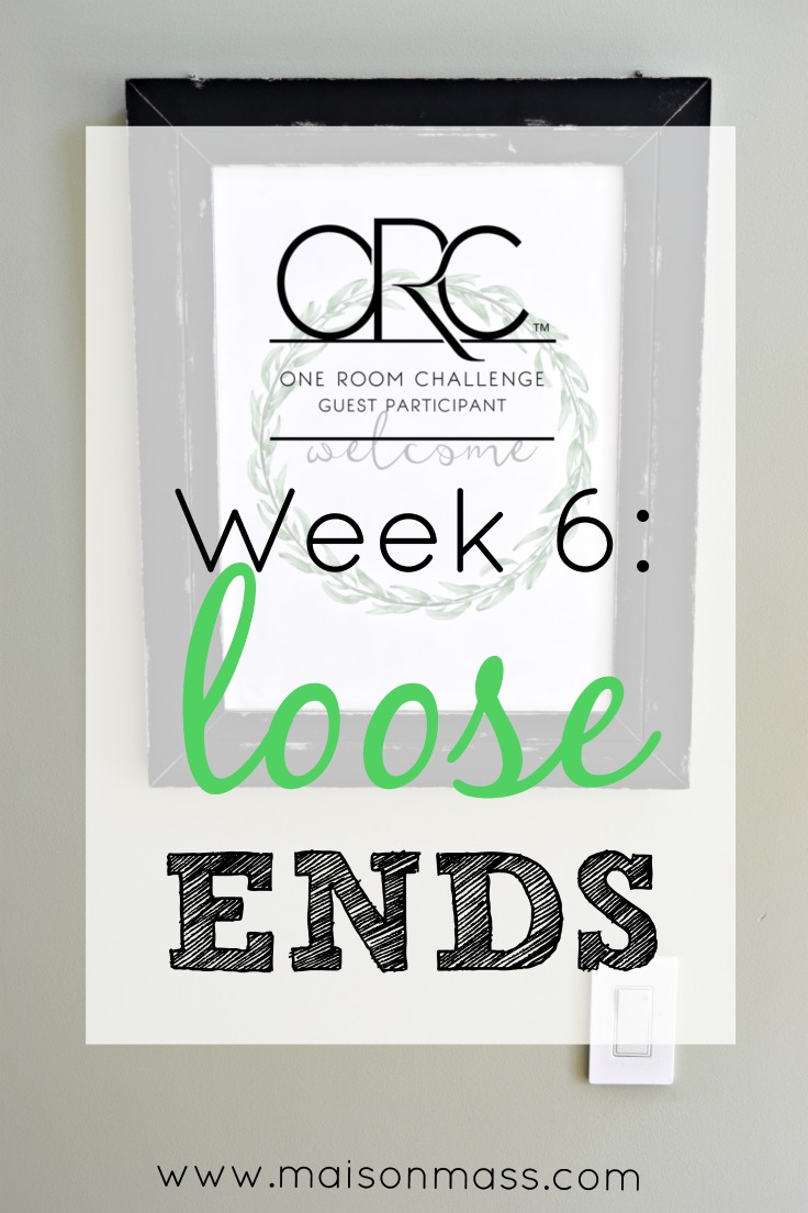Loose Ends: ORC Week 6