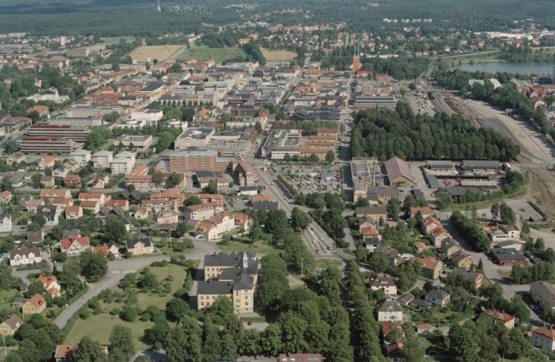 Vue aérienne Växjö
