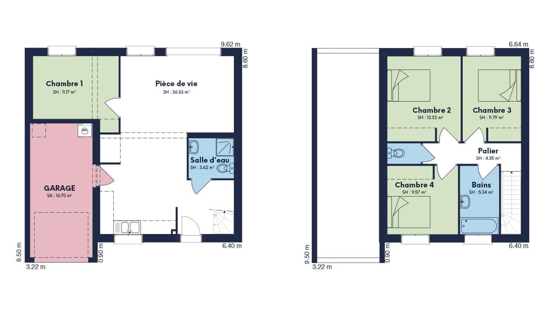 Focus 95 Plan Maison 4 Chambres A Etage