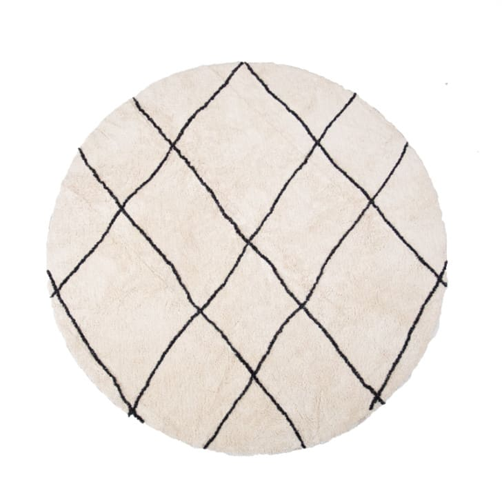 tapis rond bara blanc casse et noir d160cm jolies trouvailles