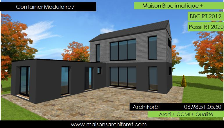 Plan Et Photo De Maison Avec Etage Ossature Bois Par