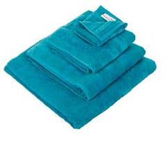 serviettes de toilette turquoise