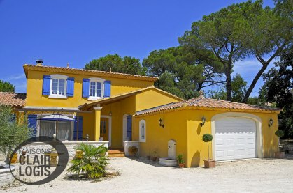 Maison provençale construite dans l'Hérault