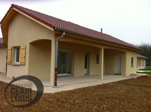 Terrasse couverte - maison neuve
