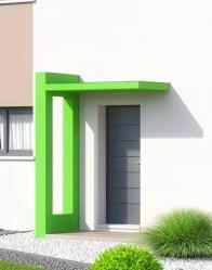 Maison neuve Poitevine - Porche porte d'entrée