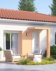 Porche de la porte d'entrée - maison individuelle Amaryllis