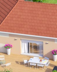 Maison individuelle Iris - vue terrasse