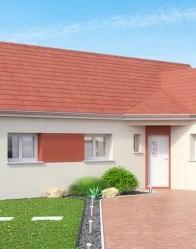 Maison en L Topaze - Tuiles rouges