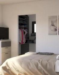 Chambre avec dressing - Maison individuelle Emeraude