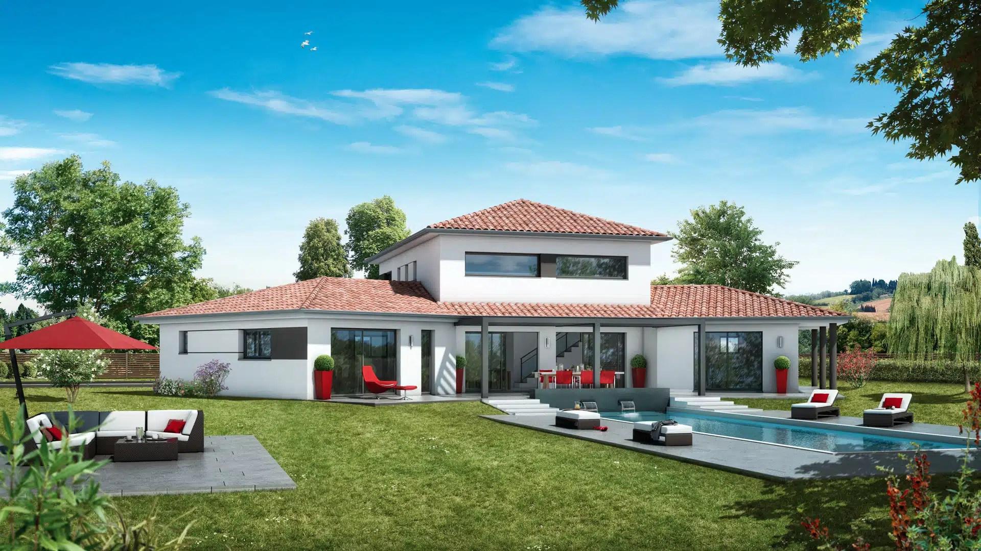 Plan maison contemporaine Ambre - plan maison 10D