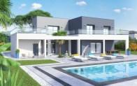 maison contemporaine DUBAI - version enduit anthracite
