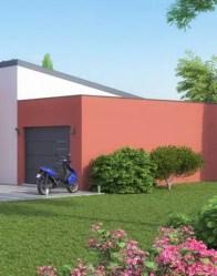 Maison contemporaine Hashtag - Garage à toit plat