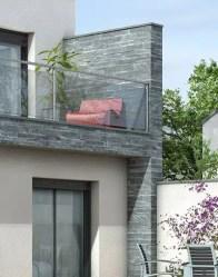 Maison contemporaine avec parement pierre
