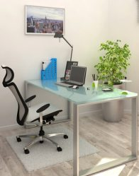 vue 3D bureau - maison contemporaine Emeraude