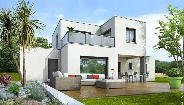 En commun Plan maison toit plat Opaline - maison contemporaine #MV_19