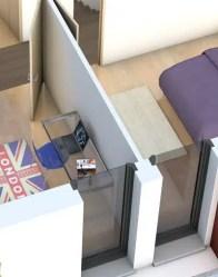 Plan maison 3D - vue intérieure