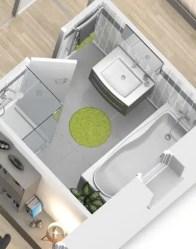 Plan maison 3D - maison contemporaine