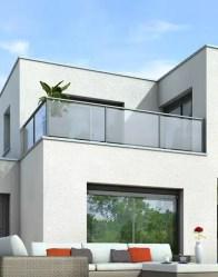 Maison à toit terrasse - maison toit plat