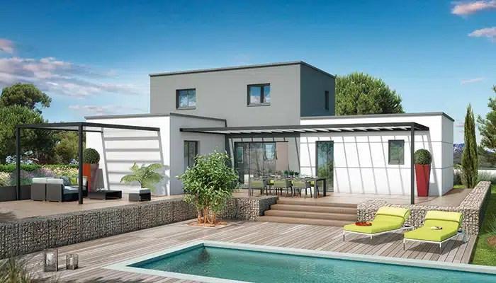 architecture cubique et lignes pures pour une maison toit plat sduisante