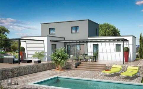 Plan maison toit plat Orchidée