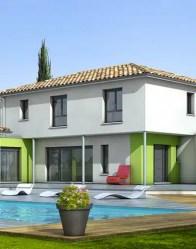 Maison contemporaine avec terrasse semi-couverte