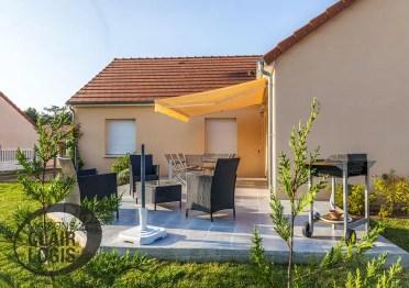 Maison en L avec terrasse