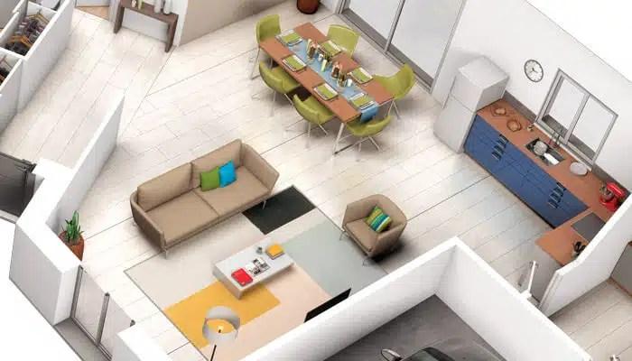 Plan Maison En V Tulipe - Plan 3D Gratuit