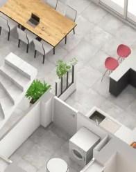 Maison individuelle Lodge : cuisine semi-ouverte