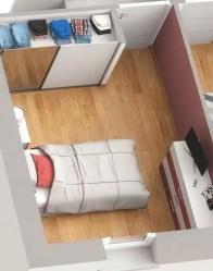 Plan maison 3D Smart - Chambre avec placard