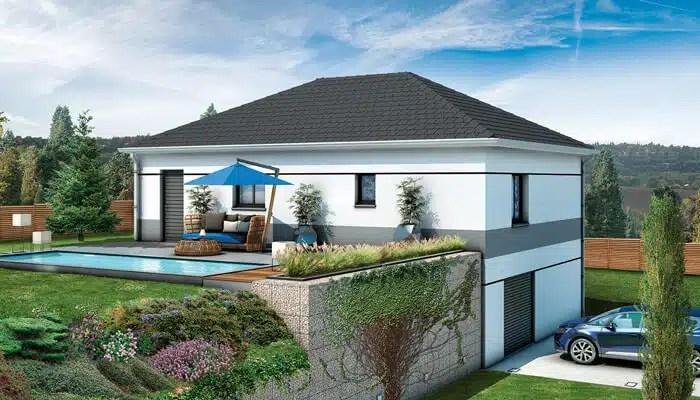 maison moderne sur sous sol