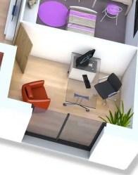 Plan maison 3D - bureau