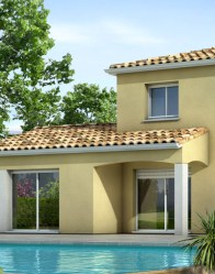 Maison moderne - terrasse couverte