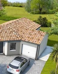 Maison moderne Bleuet avec garage accolé