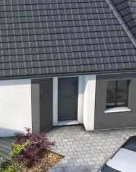 Maison moderne avec porche rentrant