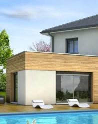 Maison moderne à toit plat