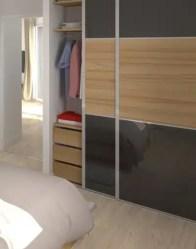 vue 3D chambre - maison moderne