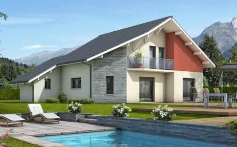 Maison moderne Mont-Revard - plan maison gratuit