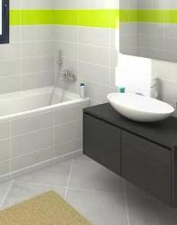 vue 3D salle de bain - maison neuve Glières