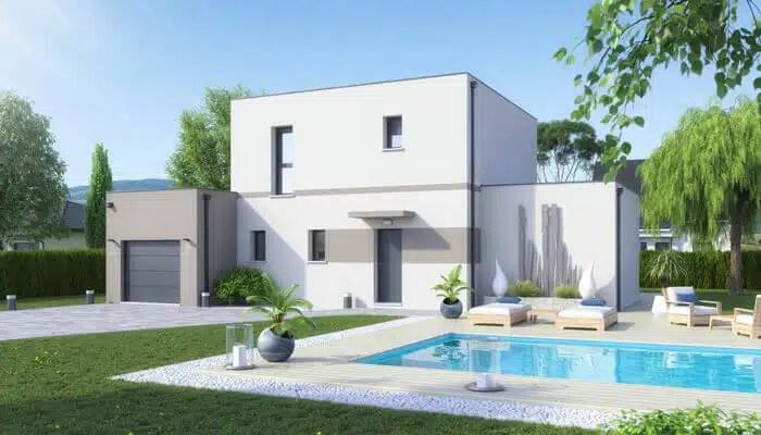 Maison toit plat Capucine - plan maison