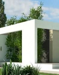 maison toit plat Jade - patio arboré