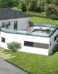 Maison toit plat Ambre - toiture terrasse